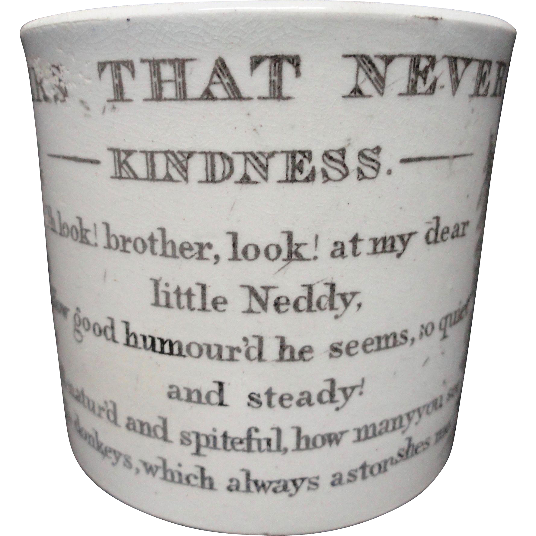 Flowers That Never Fade Child's Mug ~ KINDNESS 1840