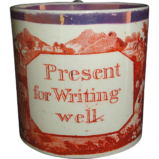 Early Creamware Childs Mug ~ Present for Writing Well 1800