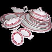 Staffordshire Childs Dollhouse Dinner Service CAIRO GREEK KEY Ridgways c1860