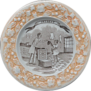 Early Pearlware Plate ~ INTEREST ~ 1840 Americana