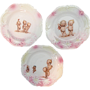 Kewpie Rose O'Neill Childs Tea Set Plate Trio RS Prussia 1915 Germany