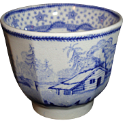 Columbian Star Historical Staffordshire Toy Cup Harrison President Campaign 1840