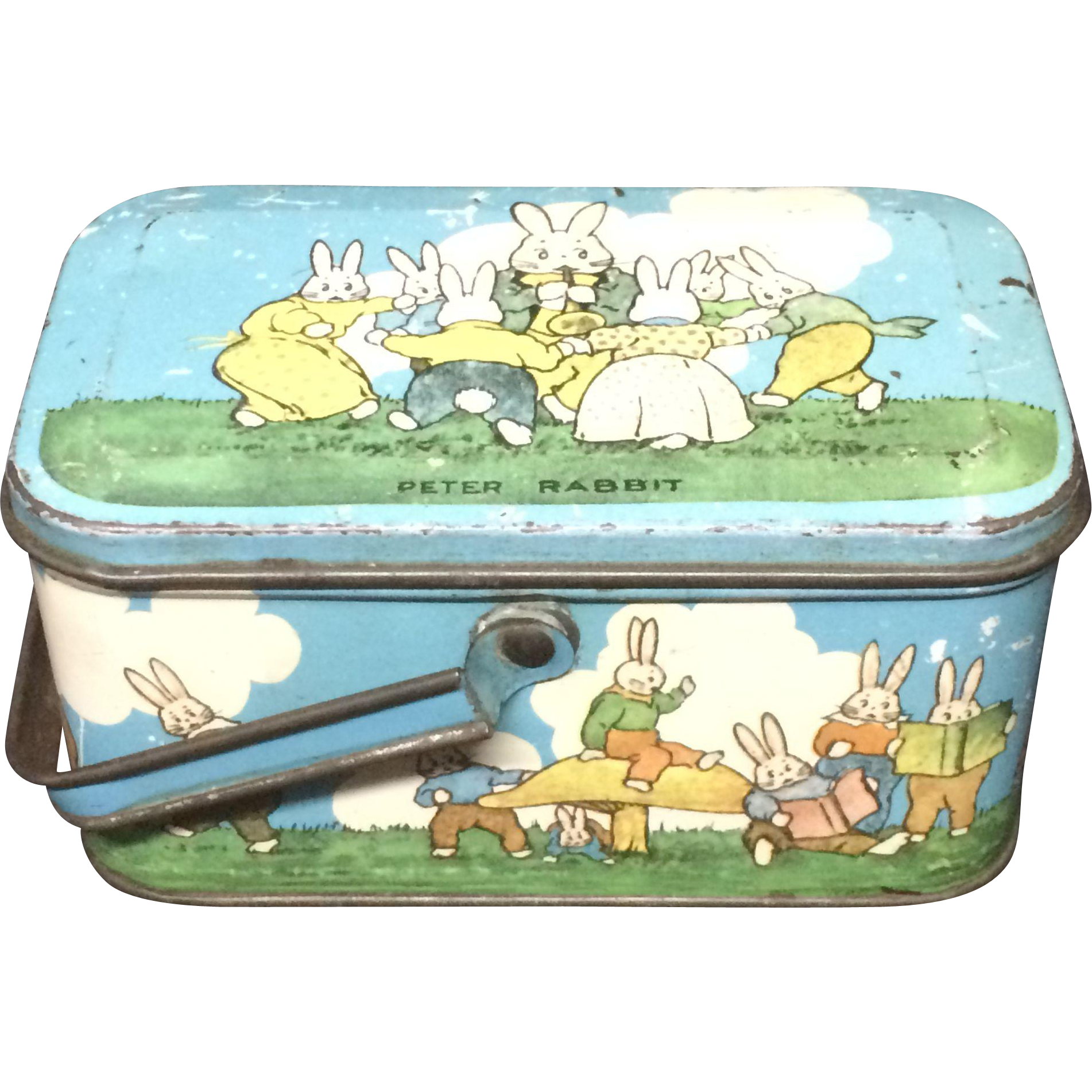 1925 ~ Peter Rabbit Tin Candy Lunch Box