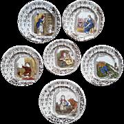 1880 ~ Staffordshire 19th Century Nursery Plates ~ Nursery Tales