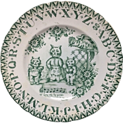 1890 ~ Antique ABC Plate ~ Louis Wain Cats
