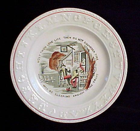 ABC Plate ~ Franklin's Maxims ~ Squander Time