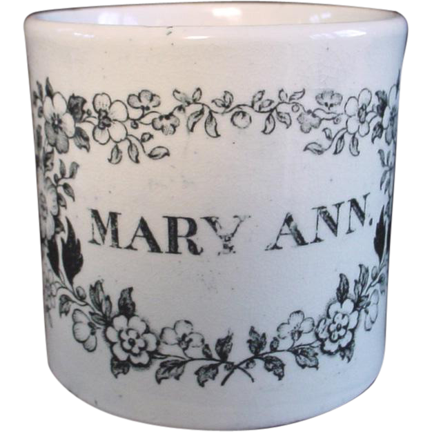 Pearlware Child's Mug Cup ~ MARY ANN