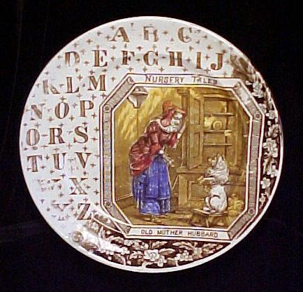 1880 ABC PLATE ~ Old Mother Hubbard