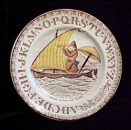 ABC Plate ~ Crusoe Viewing The Island