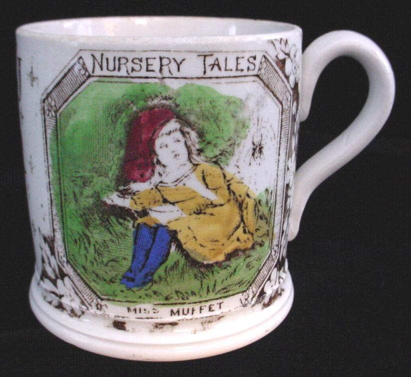 1880 ABC Mug ~ Little Miss Muffet