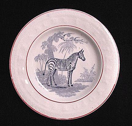Rare Child's ABC Wild Animal Plate ~ Zebra