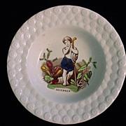 Pearlware Childs Porridge Bowl ~ December