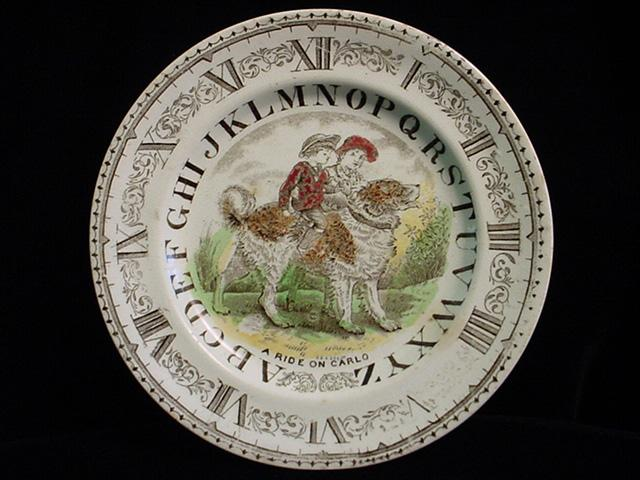 ABC Plate ~ Clock and Alphabet ~ A Ride on Carlo