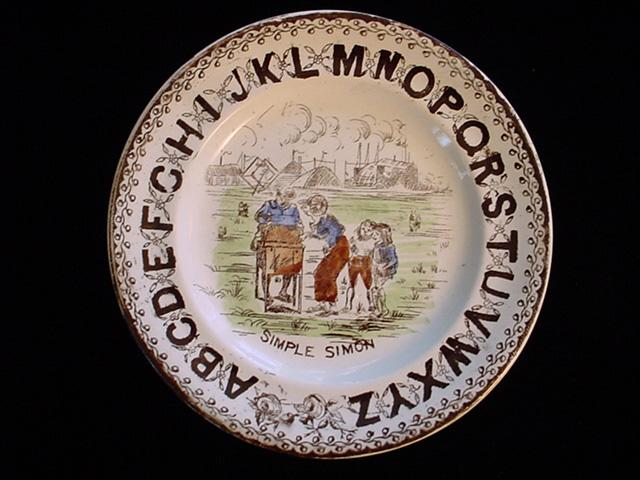 ABC Plate ~ Simple Simon 1880