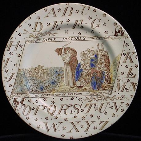 ABC Plate ~ BIBLE PICTURES ~ Destruction of Pharaoh
