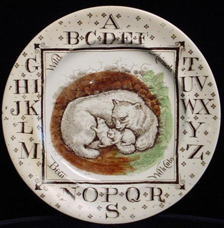 ABC Plate ~ Polar Bear Endanged Species 1880