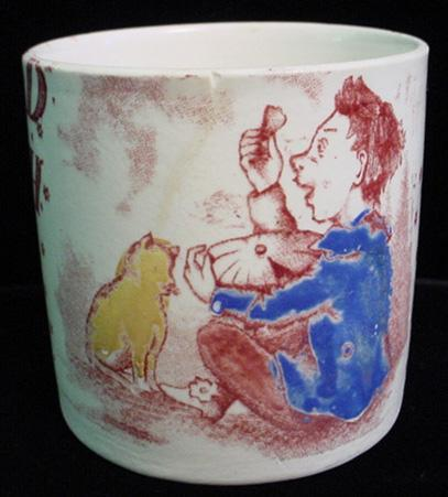 Rare Nursery Mug ~ Little Jack Horner 1880