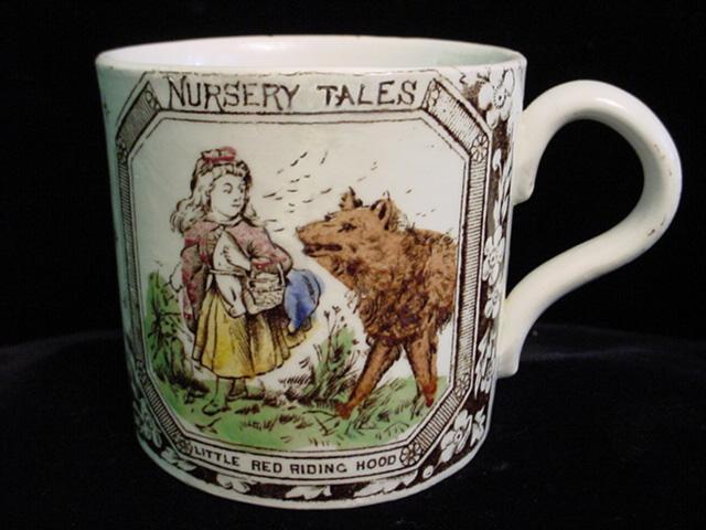 Superb ABC Mug ~ Red Riding Hood 1880 Very Rare