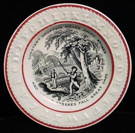 ABC Franklin's Maxim Plate 1850