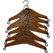 c.1900 Extendable Theatrical Traveling Costume Clothes Hangers