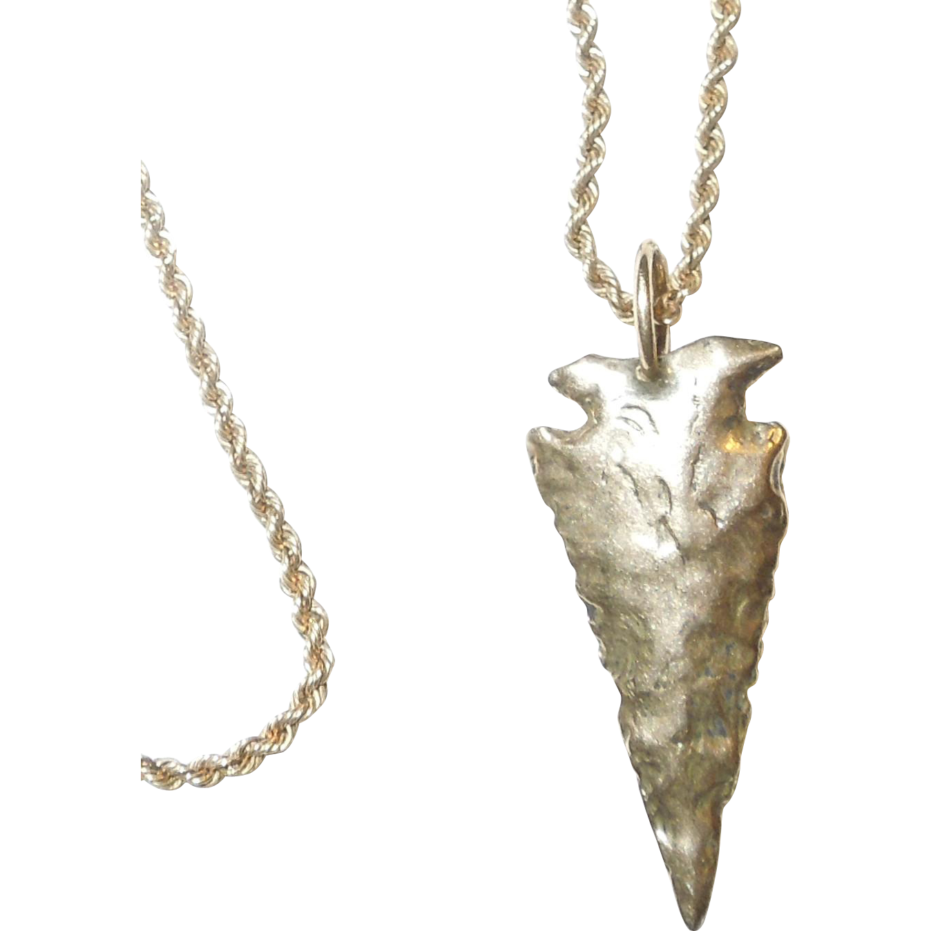14k gold arrowhead pendant and chain from chippewalakeantiques on 14k gold arrowhead pendant and chain aloadofball Image collections