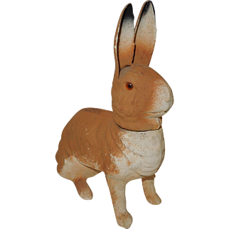 Vintage German Paper Mache Rabbit Candy Container