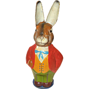 Vintage German Paper Mache Rabbit Candy Container