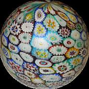 Original Art Deco Murano Millefiori Globe Lamp Shade