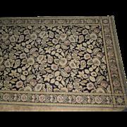 Large Art Nouveau Mohair Textile Panel, Table Covering, Rug, Bedspread