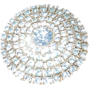 Weiss Ice Blue Rhinestone Brooch