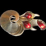 Vintage Napier Sterling Silver Fur Clip