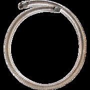 Heavy Vintage Sterling Silver Omega Choker Necklace