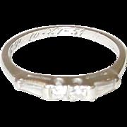 Platinum Diamond Engagement Ring Size 7