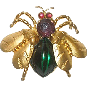 Vintage Czech Winged Bug Brooch