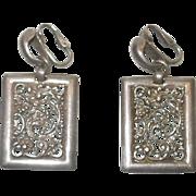 Sterling Silver Napier Clip On Earrings