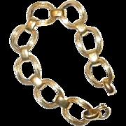 Vintage Hallmarked 12K Yellow Gold Link Bracelet
