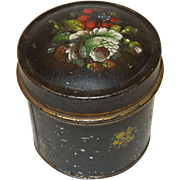 19th Century Tole Painted Spice Tin or Pantry Tin