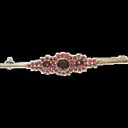 Bohemian Garnet Bar Pin 900 Silver