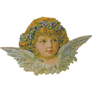 Standing Victorian Christmas Angel Die Cut