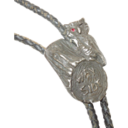 Bohemian Grove Wayside Log Camp Bolo Tie Sterling Silver