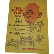 "Bohemian Grove Low Jinks Play Poster 1986 ""The Porter Plot"""