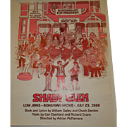 "Bohemian Grove Low Jinks Play Poster 1988 ""Shady Glen"""