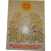 "Bohemian Grove Low Jinks Play Poster 1983 ""Reach for the Sun"""