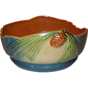 Roseville Blue Pinecone Bowl