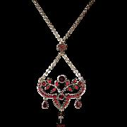 Victorian Bohemian Garnet Necklace c. 1880's