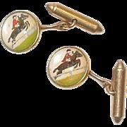 Vintage Krementz Equestrian Cufflinks