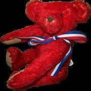 Red Mohair Teddy Bear