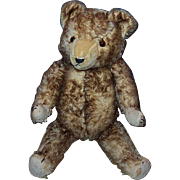1920-30's Tipped Mohair Teddy Bear 24""