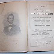 Salesman Sample 1865 History of the Civil War, Samuel M. Schmucker
