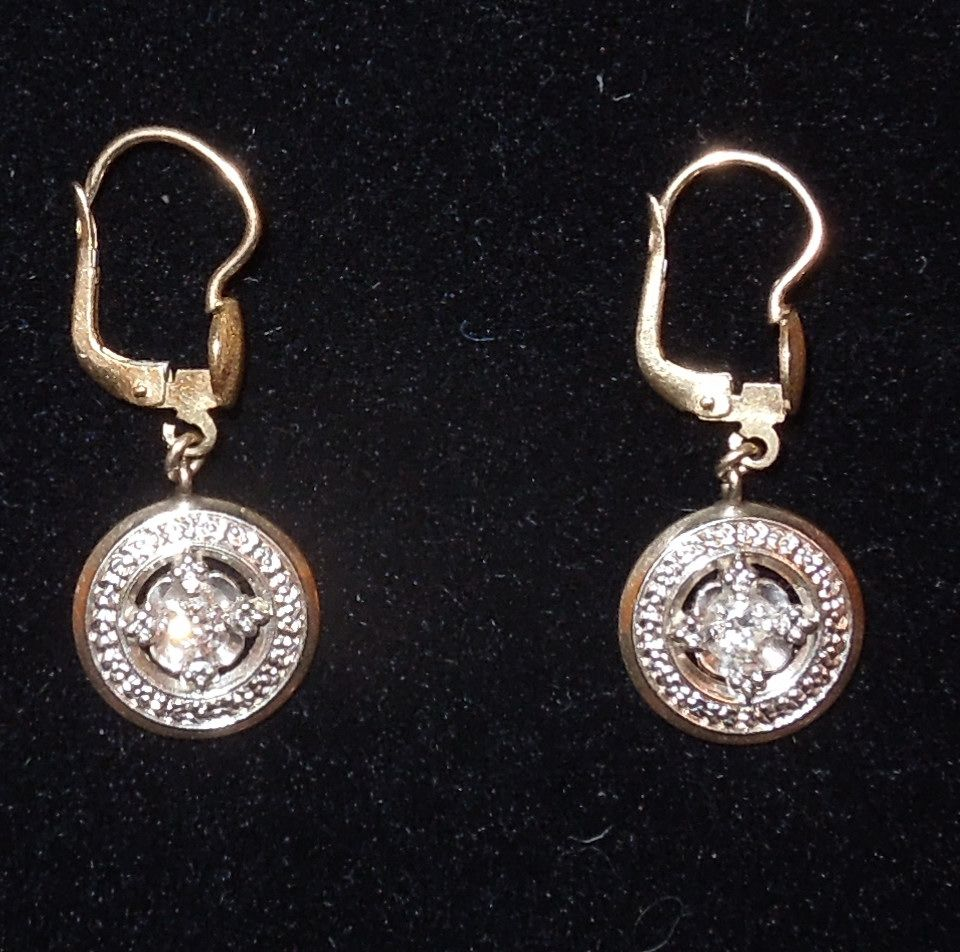 Most Sought After Antiques: Corletto Of Italy 18K Gold And Diamond Earrings SOLD